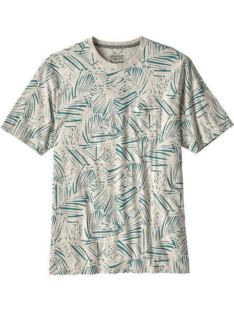 Patagonia M's Squeaky Clean Pocket Tee Rain Fern Reverse/Oatmeal Heather